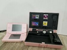 Nintendo DS Lite- Pink with hard case, games, and accessories