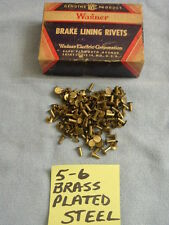 100 OF ANY SIZE: 5-6, 5-5, 5-4/4.5, OR 5-3 BRAKE SHOE LINING / CLUTCH RIVETS