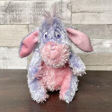 "Disney Sugar Sweet Eeyore Purple Pink Glitter Small Plush 6"" NEW Stuffed Animal"