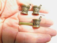 Mortar and Pestle His Lordship Pharmacy Apothecary Cufflinks Tie Bar Set Vintage