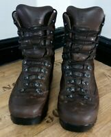 Karrimor Brown Leather British Army Vibram Sole GoreTex SF Boots 9w UK