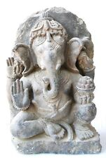 Ganesha Statue Pala Bihar Style Elephant Hindu God Magnificent Buddhism Rare Old