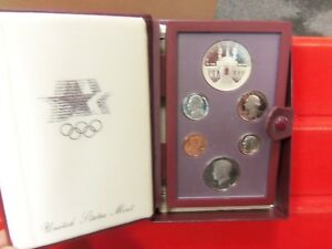 1984-S Prestige Set 6 Coins Proof Olympic w/SILVER