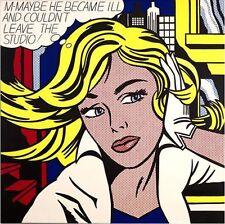 """POP ART, ROY LICHTENSTEIN """"M-MAYBE"""" , XXXL 2x2m !!!, HANDGEMALT AUF LEINWAND !!!"""