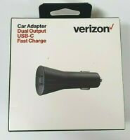 Verizon USB-C Dual Output Car Adapter with Fast Charge