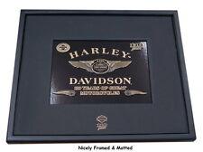 HARLEY DAVIDSON 110TH ANNIVERSARY FRAMED PIN DISPLAY  * DISCONTINUED * 5 PIN SET