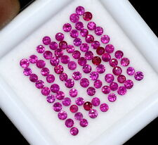 0.96 Cts Natural Ruby Round Cut 1.50 mm Lot 47 Pcs Lustrous Pink Loose Gemstones