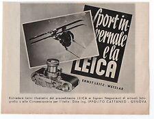 Pubblicità vintage LEICA PHOTO FOTO ERNST LEITZ WETZLAR advert werbung publicitè