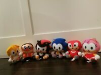 Sonic The Hedgehog Plush Doll Stuffed Sonic Shadow Amy Dr.Eggman Knuckles Tails