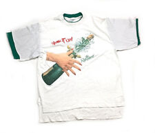 VTG Salem Tobacco Shake it Up Champagne 2-Layered T-Shirt Made in USA Men's