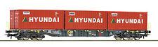 ROCO 76932 Containerwagen ERMEWA HYUNDAI Auf Wunsch Achstausch f. Märklin gratis