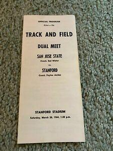 1964 Track & Field Program San Jose State Stanford Cardinals