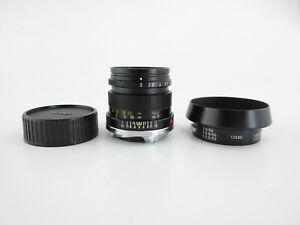 Leica M Leitz Wetzlar Summicron 1:2/50 Objektiv lens 10 blades + hood