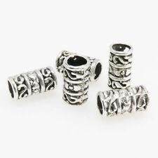 5 Metallperlen 12x6mm Spacer Großlochperlen altsilber Metall Perlen Beads -1659