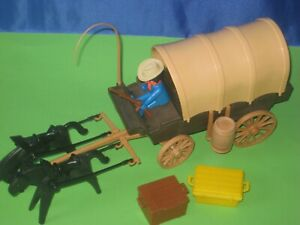 älteres Playmobil /Western / Planwagen / mit  Cowboy