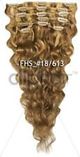 Wavy Hair Extensions, 100% Remy Human Hair Extensions, Clip In Full Head.