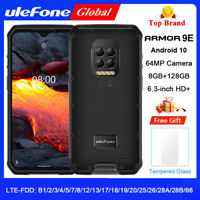 Ulefone Armor 9E 4G Unlocked Rugged Mobile Phone Android 10 128GB Smartphone NFC