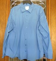 Sonoma Life Style Women's Plus Size 3X Long Sleeve Button up Blue Shirt Top