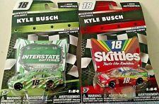 KYLE BUSCH 2018 WAVE 6 & 8 #18 1/64 NASCAR AUTHENTICS INTERSTATE & SKITTLES NEW!