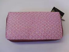 NEW*Sasha Pink Reptile Skin Print Fat Zip Organizer/IPhone/Ckbk. Clutch Wallet!