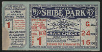 1930 A's vs Cards, WORLD SERIES, Game 1, Ticket Stub