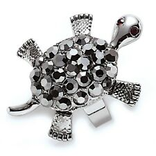 "Park Lane ""SNAPPY"" TURTLE RING - Hematite Crystals - Orig.$67 - sz 9  Movable!!"