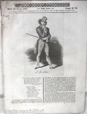 ANTICA STAMPA INCISIONE 1843 Lo speculatore Danza presso i turchi Tomba Petrarca