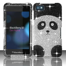 For BlackBerry Z10 Crystal Diamond BLING Hard Case Phone Cover Panda