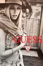 "GUESS JEANS ORIGINAL FULL SIZE PROMO POSTER 36"" X 24""   BEAUTIFUL MODELS    ""D"""