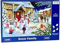 House of Puzzles 1000 Piece Jigsaw Puzzle - Snow Family - New & Sealed