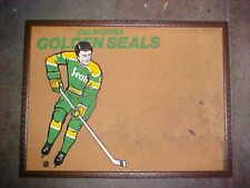 old vintage rare NHL California Golden Seals Hockey Cork Bulletin Message Board