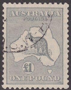 £1 Grey Kangaroo. CofA Wmk. Genuinely fine Used. SG 137