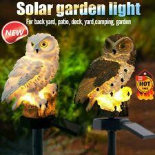 Solar Garden Lights Owl Ornament Animal  Bird Outdoor LED  Decor Sculpture