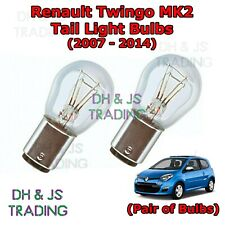 Renault Twingo Tail Light Bulbs Pair of Rear Tail Light Bulb Lights MK2 (07-14)