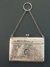 1912 Argento fogliate incisa INSOLITA CARTOLINA DI APERTURA CASO su catena