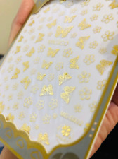 Gold butterfly flower nail sticker/ Fairy tale Nail Art Stickers Self Adhesive