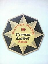 Vintage WATNEY MANN  - CREAM LABEL STOUT - Cat No'81 Beermat / Coaster