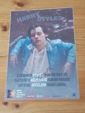 HARRY STYLES - SIGNED AUTOGRAPHED 2017 Australia Tour Poster - Laminated