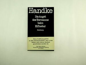 Peter Handke -  Die Angst des Tormanns beim Elfmeter  - 1970
