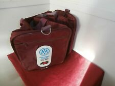 Vtg Volkswagen Canada 50th Anniversary 1952-1992 Small Athletic Burgundy Bag