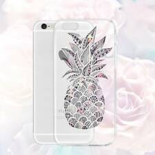 Pineapple Clear Pattern Phone Case Slim TPU Cover Bumper for iPhone Samsung HTC