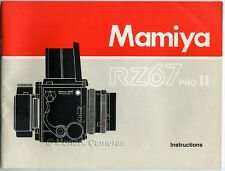 Mamiya RZ67 Pro Il Instruction Book. More User Manuals & Camera Guides Listed.