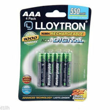 Lloytron B014 AAA 550mAh Rechargeables Batteries (Pack of 4)