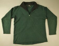 VTG MENS Forest Green Patagonia CAPILENE Half Zip Fleece Sweater Size L USA MADE
