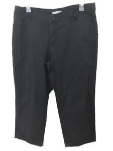 Lee at the waist pants size 18S 18 short black relaxed fit 4 pockets