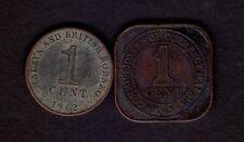 Malaya 1945 1 Cent & 1962 1 Cent Coin.