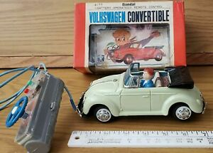 """APPEARS NON-USED  JAPAN/BANDAI 1967 B/O """"VW CABRIOLET"""" CONVERTIBLE W/DRIVER"""