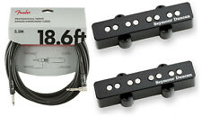 Seymour Duncan Apollo 4 String Jazz Bass J Pickup Set ( FREE FENDER 18FT CABLE)