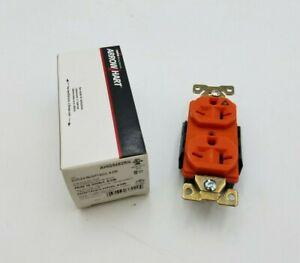 Cooper Arrow Hart AHIG5462RN Duplex Receptacle Isolated Ground 20A 250V Orange