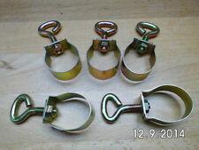 5 Rohrklemmen für Zeltgestänge verstellbar von 24 - 26 mm, gelb verzinkt,